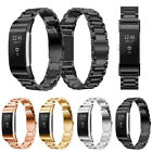 Stainless Steel Wrist Bracelet watch Band Folding Clasp for Fitbit Charge 2