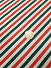 Candy cane Christmas polycotton fabric 45 inches wide