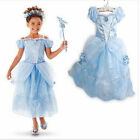 2017Deluxe Girls Princess Costume Fairytale Dress Book Week Party Disney Outfit~