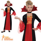 Child Gothic Vampire Princess Costume Fancy Dress Girls Halloween Vamp Outfit