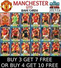 MATCH ATTAX MANCHESTER UNITED 17/18 2017/18 BASE CARDS - BUY 3 GET 7 FREE