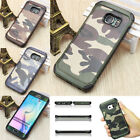 For Samsungs6 s7 Edge Camouflage Hot Cool Man PC+Silicone  Phone Case Cover Back