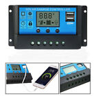 10A 20A 30A 12V/24V Solar Panel Charger Controller Automatic Conversion USB LCD