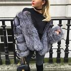 Hottest Fluffy Shaggy  Fox Fur Coat Jackets Naturalismus Fuchspelz Weste Women