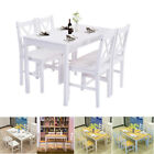 Dining Table and 4 Chairs/ Bench Set Wooden Dining Room Home Kitchen Furniture