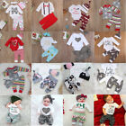 US Stock Newborn Baby Boys Girls Tops Rmper Pants Leggings Outfits Set Clothes