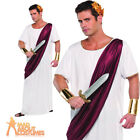 Adult Julius Caesar Costume Roman Emperor Toga Fancy Dress Mens Outfit New