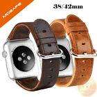 Genuine Leather Strap Band for iWatch Apple Watch 3 2 1 38mm/40mm 42mm/44mm image