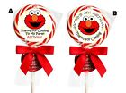 ideas for elmo birthday party - ELMO PERSONALIZED LOLLIPOP ROUND BIRTHDAY PARTY STICKERS FAVORS 1.5