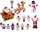 Large Inflatable Light Up Santa Sleigh Snowman Outdoor Christmas Decorations