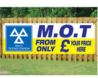 MOT TEST WITH YOUR PRICE BANNER SIGN GARAGE WORKSHOP waterproof PVC with Eyelets