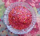 Real German GLASS GLITTER  Peony Pink Shards 1 Ounce 40 Grit