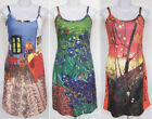 Vincent Van Gogh ART Print Spaghetti Stretch Tank Dress Size M Medium