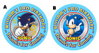 SONIC THE HEDGEHOG ROUND BIRTHDAY PARTY STICKERS FAVORS LABE