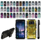 "For Samsung Galaxy S8 Active G892A 5.8"" Hybrid Heavy Duty Stand Case Cover + Pen"