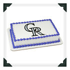 COLORADO ROCKIES MLB Edible Image Cake Topper Photo Icing Frosting Sheet on Ebay