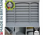 """Large Triple Bookcase, Grey Painted """"Heavy Duty"""" Library Display Shelving Unit"""