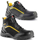 MENS LIGHTWEIGHT COMPOSITE PLASTIC TOE CAP SAFETY TRAINER WORK LACE HIKER SHOES