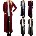 Women's Cardigan Duster Full Length Maxi Sweater Flyaway Open Front Long Sleeve