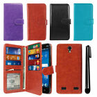 For ZTE ZMAX 2 Z958 Z955L Flip Card Holder Wallet Cover Case Wrist Strap + Pen