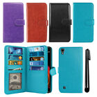 For LG X Power K450 US610 Flip Card Holder Wallet Cover Case Wrist Strap + Pen