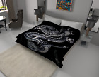 Solaron Blanket throw Thick Ultra Fine Polyester Mink Plush Dragon Heavy Weight image