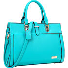 Dasein Faux Leather Work Satchel 4 Colors