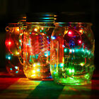 2M LED Christmas Fairy Light Solar For Mason Jar Lid Insert Wedding Garden Decor