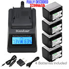 canon legria hf m406 - Kastar 4 Battery & Fast Charger kit for Canon BP-727 BP727 CG-700