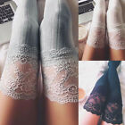 USA Knitting Lace Cotton Over Knee Thigh Stockings High Socks Pantyhose Tights