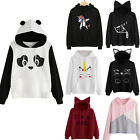 Womens Cat Ear Panda Hoodie Sweatshirt Hooded Pullover Tops Blouse Coat Lovely