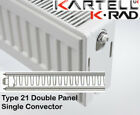 Kartell K-Rad Double Panel Type 21 Compact Radiator 600mm High Various Widths