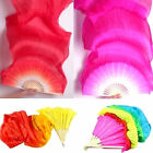US STOCK 18m Colorful Hand Made Belly Dance Dancing Silk Bamboo Long Fans Veil