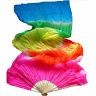 18m 4 Colors Colorful Hand Made Belly Dance Dancing Silk Bamboo Long Fans Veil