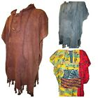Knitted Cotton Poncho Warm Jumper Festival Colourful Mexican Style Dressing Gown