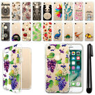 "For Apple iPhone 8 / iPhone 7 4.7"" Clear Soft Silicone Gel TPU Case Cover + Pen"