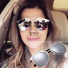 Fashion Mirrored Adult Unisex Metal Sunglasses Classic Vintage Protect Eyes   TX