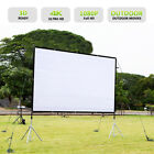 "60/72/84/100/120/150"" Projector Screen 16:9 Projection HD Manual Hanging Movie"