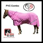 LOVE MY HORSE 6'3 PVC Shade Mesh Tough Summer Combo Horse Rug Pink or Blue