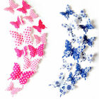 Usefully 12 Pcs 3D Butterfly Wall Stickers Fridge Magnet Wall stickers For Home