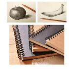 7Styles Spiral Bound Kraft Paper Sketch Book Sketching Drawing Blank Notebook LA