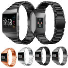 Large Stainless Steel Folding Clasp Watch Wrist band Strap for Fitbit Ionic image