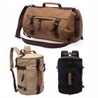 Gym Duffle Canvas Backpack Rucksack Laptop Shoulder Travel Hiking Camping Bag