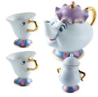 UK Disney Beauty and The Beast Mrs. Potts & Chip Tea Pot And Cup sugar set