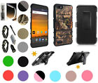 """for 5.5"""" ZTE Warp 8 Blade Force Case Clip Holster 2 Kick stand  Rugged Cover +"""