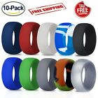 10 Pcs Silicone Wedding Ring Rubber Band Men Comfort Sport Outdoor Work Modern