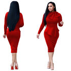 Women Casual Long Sleeve Dresses Bodycon Evening Elegant Office Dress Cocktail
