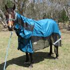 LOVE MY HORSE 600D 5'9 - 6'6 Rainsheet Mesh Hybrid Detachable Neck Rug Teal