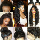 US Stock! Curly Lace Front wigs 100% Virgin Human Hair Natural Color Can be Dyed