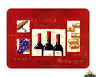 Glass Chopping Board Bourgogne Red Wine Kitchen Worktop Saver 3 Sizes or Set